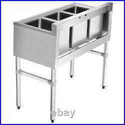 Giantex NSF Stainless Steel Utility Sink 3 Compartment Commercial Kitchen Sink