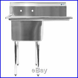 Gridmann 1 Compartment NSF Stainless Steel Commercial Kitchen Prep & Utility with