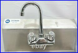 Gridmann Commercial Stainless Steel Hand Wash Wall Mount Sink Kitchen TF