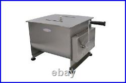 Hakka Double Axis Manual Meat Mixer Stainless Steel Commercial Kitchen Machine