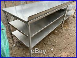 Heavy Duty 10' x 31.5 Commercial Stainless Steel Kitchen Work Prep Table NSF