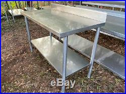 Heavy Duty 48 x 24 Commercial Stainless Steel Work Kitchen Prep Food Table NSF