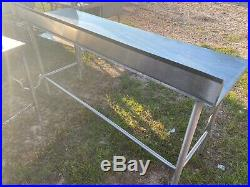 Heavy Duty 72 x 23.5 Commercial Stainless Steel Work Kitchen Prep Table NSF