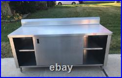 Heavy Duty 72 x 30 Commercial Stainless Kitchen Work Cabinet WinHolt
