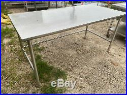 Heavy Duty 72 x 36 Commercial Stainless Steel Kitchen Work Prep Table NSF