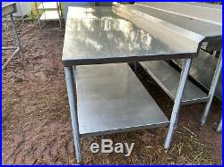 Heavy Duty 96 x 31 Commercial Stainless Steel Kitchen Work Prep Table NSF