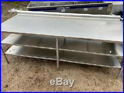 Heavy Duty 96 x 37 Commercial Stainless Steel Kitchen Work Prep Food Table NSF