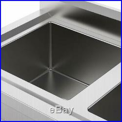 Heavy Duty Three 3 Compartment Stainless Steel Commercial Utility Sink Kitchen H