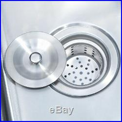 Heavy Duty Three 3 Compartment Stainless Steel Commercial Utility Sink Kitchen M