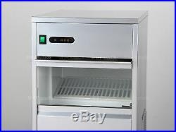 Home Commercial Ice Maker Countertop 60lbs/day Stainless Steel Machine Kitchen