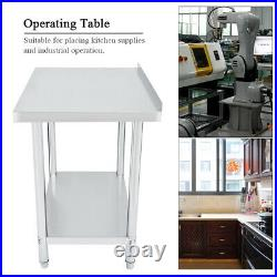 Hot Work Table Stainless Steel Food Prep Commercial Kitchen Restaurant