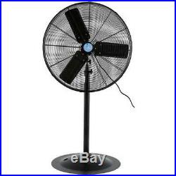 ILiving 30 Inch Commercial 3 Blade Aluminum Pedestal Electric Floor Fan (Used)