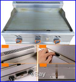 Intbuying Stainless Steel Commercial Kitchen Countertop Natural Gas Flat Griddle