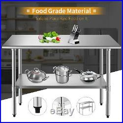 Kenwell Commercial Stainless Steel Work Food Prep Table Kitchen 24 x 48