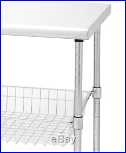 Kitchen Appliance Cart Island On Wheels Rolling Utility Cutting Table Commercial