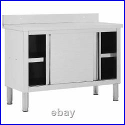 Kitchen Cabinet Work Table Stainless Steel Commercial Restaurant Food Ready Unit