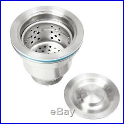 Kitchen Sinks Stainless Steel Single Bowl Commercial Home Top 60x45cm With Sewer