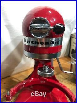 KitchenAid K5 Commercial Mixer (5KPM5) Red & Brushed Steel VGC