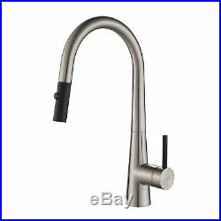 Kraus Crespo 16.25 Commercial Single Handle Kitchen Faucet, Stainless Steel