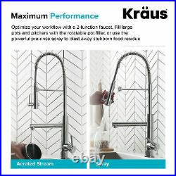 Kraus KPF-1603 Artec Pro 2-Function Commercial Style Pre-Rinse Stainless Steel