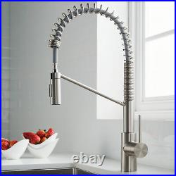 Kraus KPF-2631 Oletto Commercial Style Kitchen Faucet - Stainless Steel