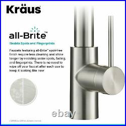Kraus KPF-2631 Oletto Commercial Style Kitchen Faucet - Stainless Steel NEW
