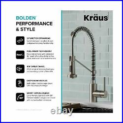 Kraus KPF1610SSCH Commercial Kitchen Faucet Dual Function Stainless Steel Chrome
