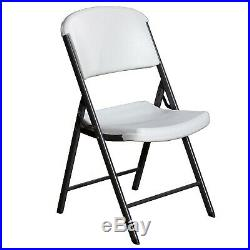 Lifetime Commercial Grade Contoured Folding Chair, 4 Pack White FREE SHIPPING