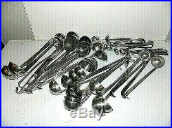 Lot of 45 Commercial Kitchen Restaurant Stainless steel spoons / Ladles Vollrath