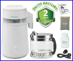 MWP White Stainless Steel Water Distiller With Glass Collection Jug