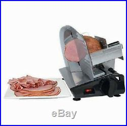 Meat Electric Food Slicer Commercial Cutter Deli Steel Cheese Cooks Kitchen Home