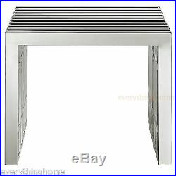 Modern Stainless Steel Bench Seat End Side Table Designer Commercial Quality