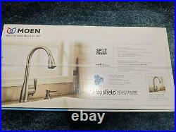 Moen Haysfield 87877SRS Brand New Kitchen Faucet and soap dispenser