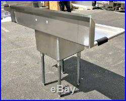 NEW 54 Stainless Steel Sink One Compartment Commercial Kitchen Restaurant NSF