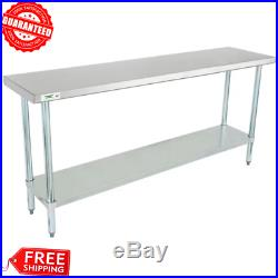NEW Commercial 18 x 72 Stainless Steel Work Prep Table With Undershelf Kitchen