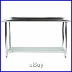 NEW Commercial 24 x 60 Stainless Steel Work Prep Table With Backsplash Kitchen