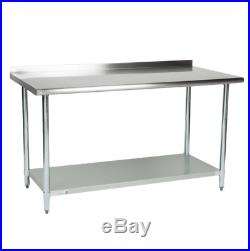 NEW Commercial 30 x 60 Stainless Steel Work Prep Table With Backsplash Kitchen