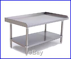 NSF 30D x 72W x 24H Stainless Steel Equipment Stand Commercial Kitchen