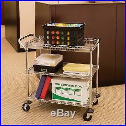 NSF Commercial Grade Industrial Utility Cart Dolly 3 Steel Wire Storage Shelving