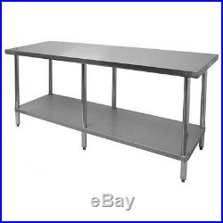 New 18 x 84 Commercial Stainless Steel Kitchen Work Prep Table 18 x 84 NSF