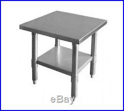 New 30 x 12 Commercial Stainless Steel Kitchen Work Prep Table 30 x 12 NSF
