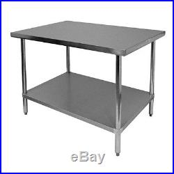 New 30 x 36 Commercial Stainless Steel Kitchen Work Prep Table 30 x 36 NSF
