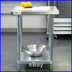 New Regency Commercial Stainless Steel Food Prep Table Kitchen Equipment 24 X 24