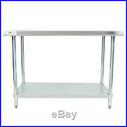 New Regency Commercial Stainless Steel Food Prep Table Kitchen Equipment 24 x 48