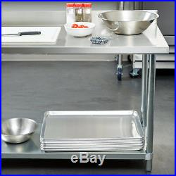 New Regency Commercial Stainless Steel Food Prep Table Kitchen Equipment 30 x 72