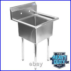 OPEN BOX Commercial Stainless Steel Kitchen Utility Sink 23.5 Wide