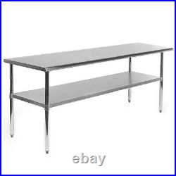 OPEN BOX Stainless Steel Commercial Kitchen Work Food Prep Table 24 x 72