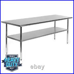 OPEN BOX Stainless Steel Commercial Kitchen Work Food Prep Table 30 x 72