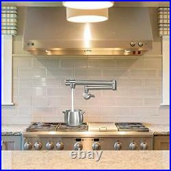 Pot Filler Faucet Wall Mount Single Hole Commercial Stainless Steel Kitchen Sin