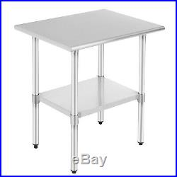 Prep Work Table Commercial Food Stainless Steel Kitchen Restaurant 24 x 30 NSF